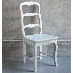 Set 2 sedie legno grigio delavé shabby Luxe Lodge
