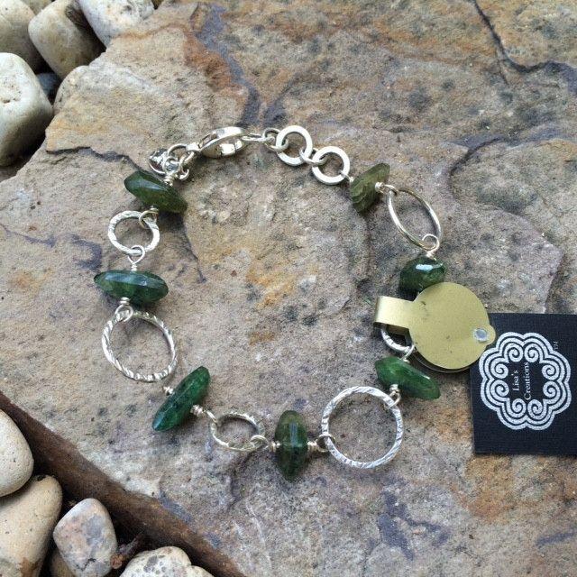 Silver Linked Stone Bracelets
