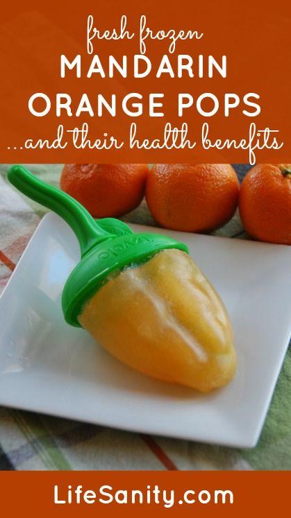 Fresh frozen mandarin orange pops and the health benefits of mandarin oranges!  LifeSanity.com