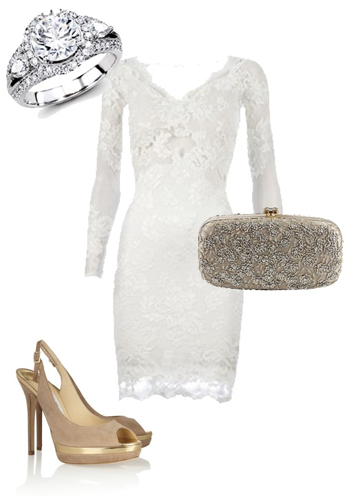 Rehearsal dinner outfit? Featuring this beautiful Simon G. engagement ring.