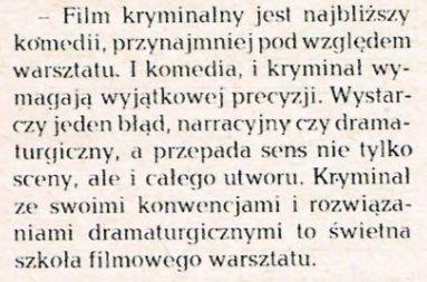 Fragment Wywiadu z Tadeuszem Chmielewskim z numeru 6/1978.