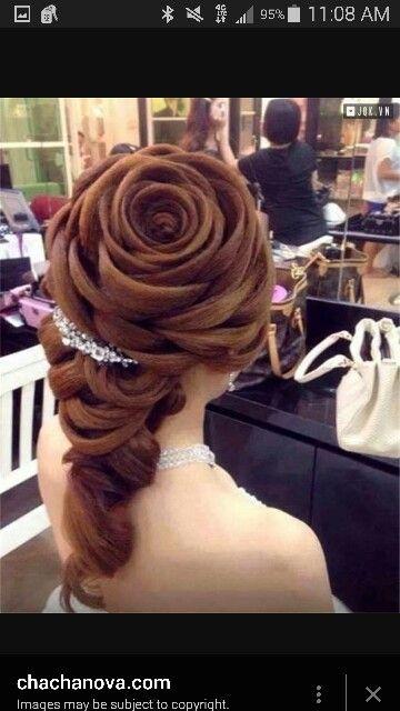 Belle inspired hair.