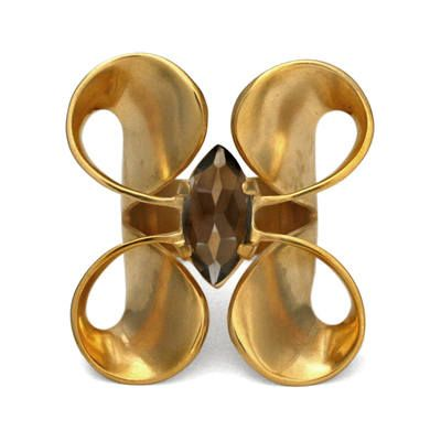 Volute Double curl Ring #gold #contemporary #boutique #London  #designer #jewellery #handmade #NudeJewellery