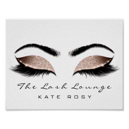 Pink Name Makeup Artist Beauty Studio Lashes Poster - glitter glamour brilliance sparkle design idea diy elegant