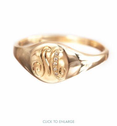 Ca-yute! Classic Signet Ring by Ariel Gordon Jewelry