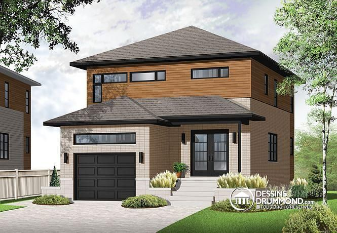 236 best mod les de maisons contemporaines plans de maisons urbaines images on pinterest. Black Bedroom Furniture Sets. Home Design Ideas