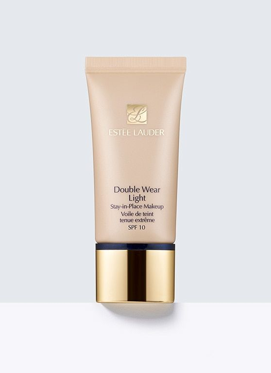 "Double Wear Light, Stay-in-Place Makeup SPF 10 -  15-hour wear, light as air: long-wear makeup is now lightweight makeup.     It's makeup that keeps up. Fresh, natural, comfortable. Goes on sheer, leaves skin free to breathe all day.     Controls oil. Resists smudging and won't ""melt"" off through heat and humidity.     For a look that stays vibrant and fresh whether it's a workday, a workout or a weekend. Smooth it on once and don't think twice about it."