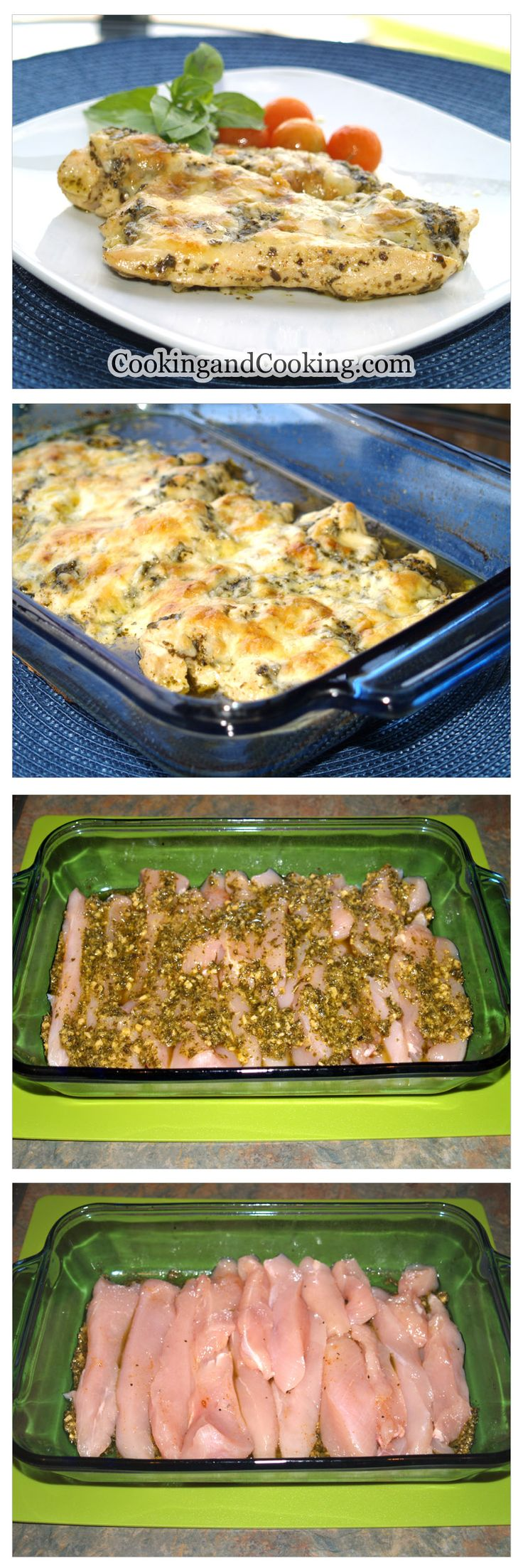 about Baked Pesto Chicken on Pinterest | Chicken pesto recipes, Easy ...