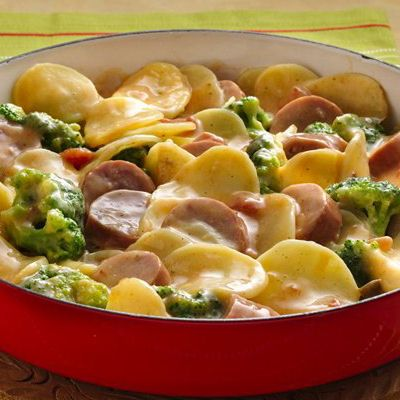 Skillet Potato, Broccoli and Sausage | Yummy Meals | Pinterest ...
