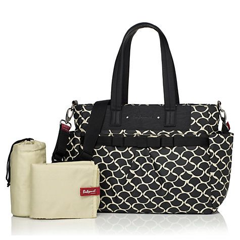 Buy Babymel Cara Changing Bag, Wave Black Online at johnlewis.com