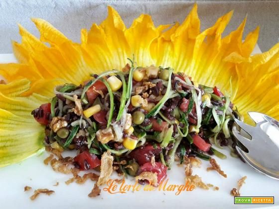 "Insalata di riso venere ""fantasia colorata"" #ricette #food #recipes"