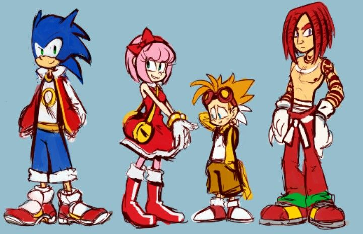 Sonic Human Forms Sonic T Hedgehog Miles Tails Prower Amy Rose