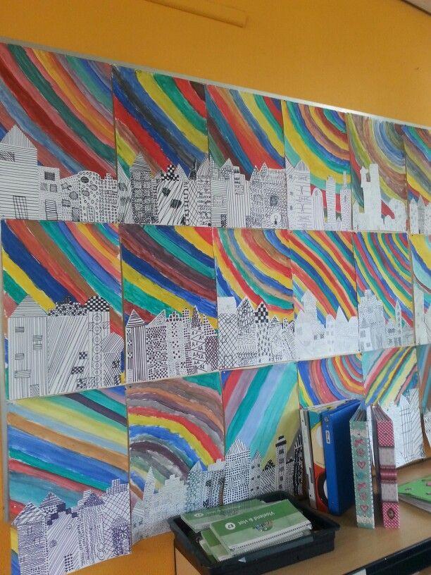 Een leuke knutselopdracht voor groep 6/7/8. De technieken van patronen komen hierin terug. En het is kleurrijk!