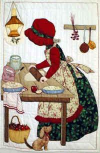 Christmas Pies - Quilt Block Pattern by Helen Scott  Perfect addition to my Sun Bonnet Sue at Christmas quilt!