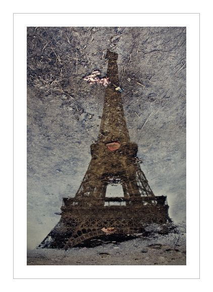 The Eiffel Tower (a puddle reflection)