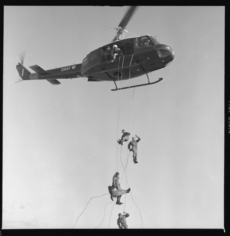 331838PD: RAAF helicopter troop training, Western Australia, 1969.  http://encore.slwa.wa.gov.au/iii/encore/record/C__Rb3043476__Shelicopter__Ff%3Afacetmediatype%3Av%3Av%3APhotograph%3A%3A__P0%2C1__Orightresult__U__X6?lang=eng&suite=def