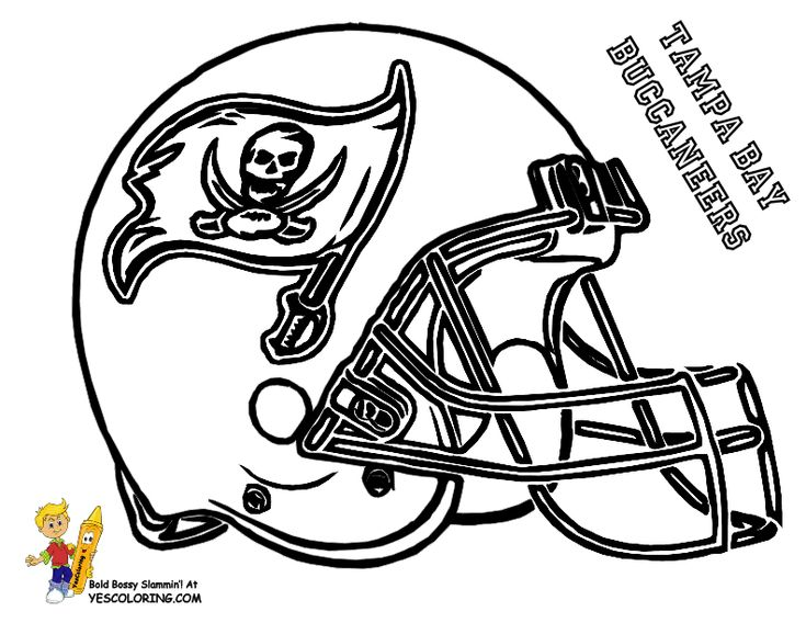 Football Helmet Coloring Pages Tampa Bay Buccaneers Football Coloring Pages Nfl Football Helmets Sports Coloring Pages
