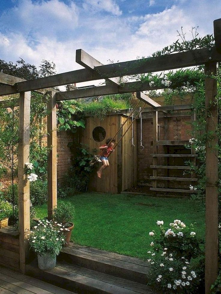 70 Exciting Small Backyard Playground Kids Design Ideas ...
