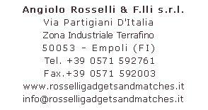 Angiolo Rosselli & F.lli srl fiammiferi pubblicitari, articoli promozionali, fiammiferi personalizzati, stuzzicadenti, stuzzicadenti imbustati, fiammiferi minerva, fiammiferi svedesi