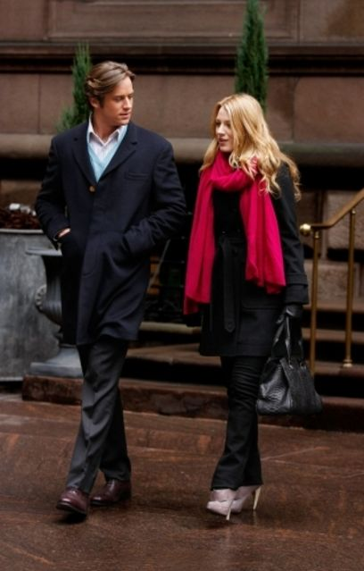 Armie Hammer as Gabriel and Blake Lively as Serena in Gossip Girl's 'Wrath of Con'.