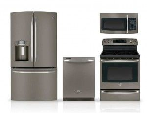 ge slate appliances | Best Kitchen Appliance Packages NOT Stainless Steel | Alternative ...