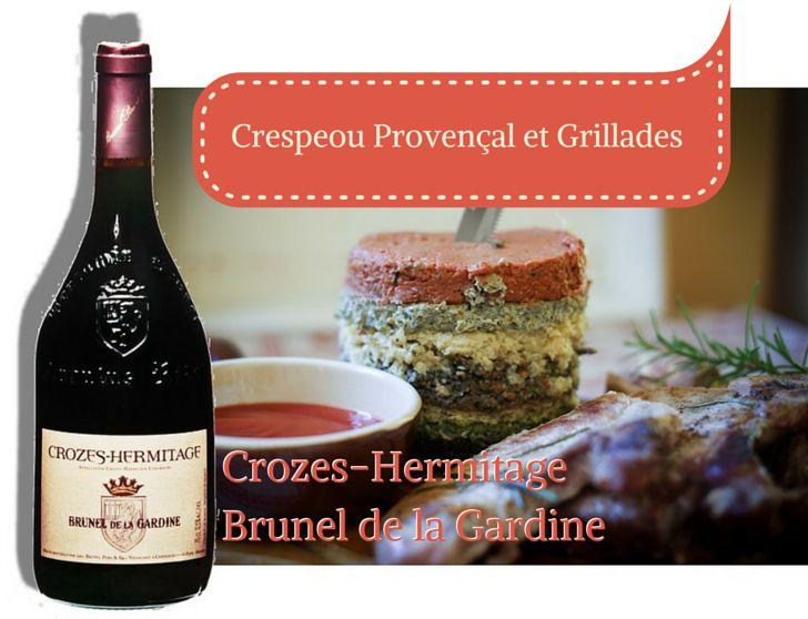 """C'est l'été, on profite des barbecues et des grillades sur un plat bien de chez nous, le CRESPEOU ! Avec un Crozes-Hermitage Brunel de la Gardine. Recette sur notre site : http://www.gardine.com/fr/crespeou-provencal-grillades-estivales -------------- It is summertime, we all enjoy our BBQs, perfect for a very local dish, the """"CRESPEOU""""! With a Crozes-Hermitage Brunel de la Gardine. Recipe on our website: http://www.gardine.com/en/provencal-crespeou-summer-bbq"""