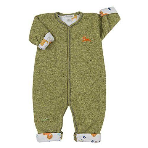 Kissy Kissy Baby Boys Jungle Jaunt Sherpa Rev Playsuit - Green-12-18mos