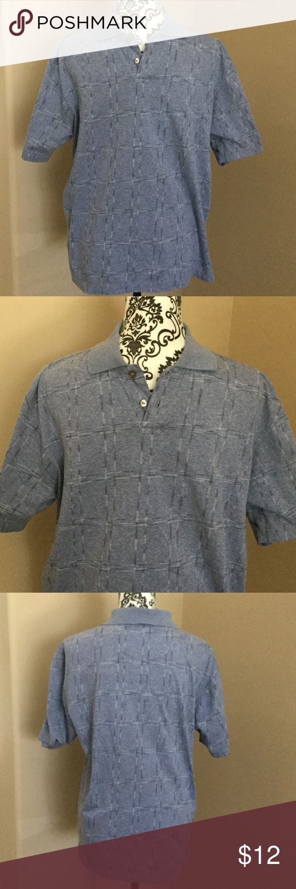 Geoffrey Beene Polished Cotton Polo Shirt size S Geoffrey Beene blue polo shirt polished cotton size small measures 21 inches from armpit to armpit and 27 inches long Geoffrey Beene Shirts Polos