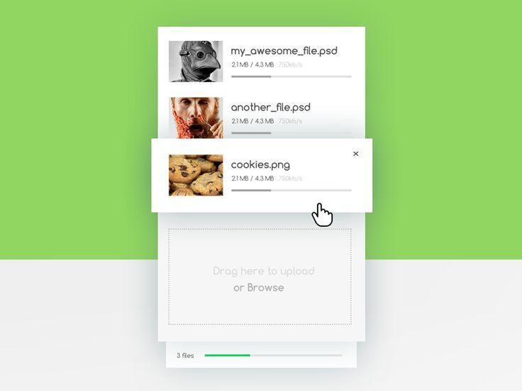 Daily UI :: 28 - Upload file