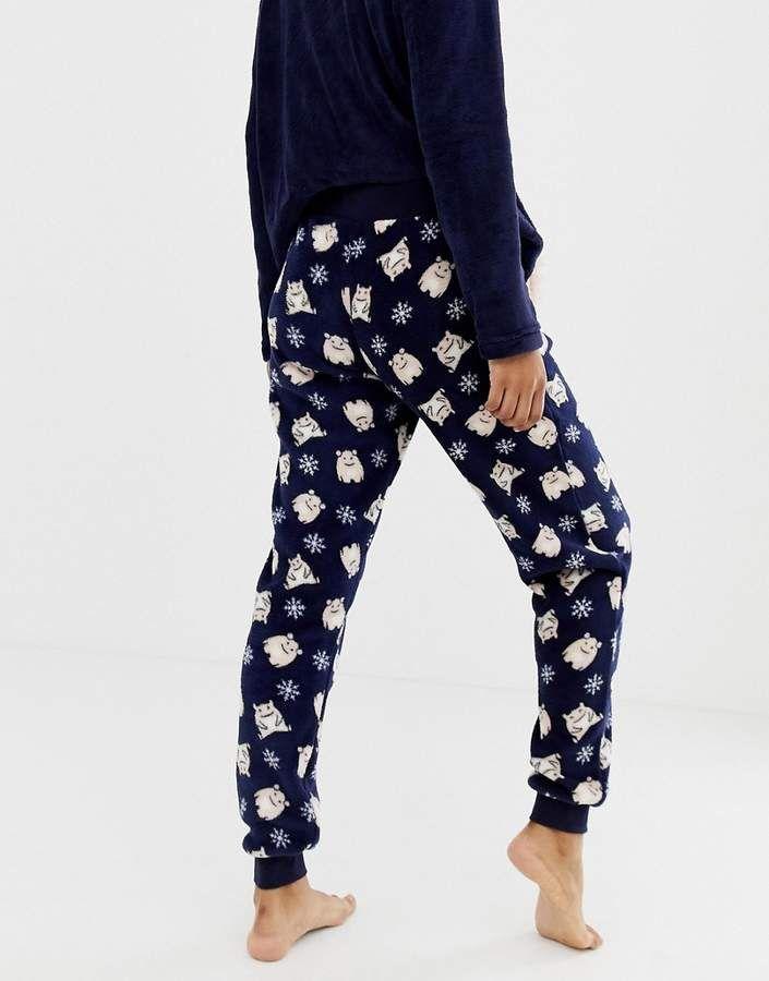 f943d99e92b Hunkemoller Fleece Monster pyjama pants in navy #Monster#Fleece ...