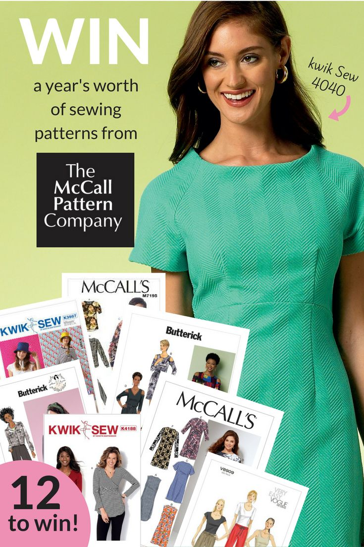 Win a year of patterns from The McCall Pattern Company