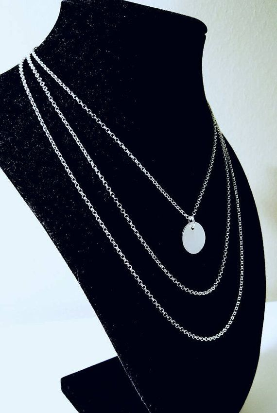 Check out this item in my Etsy shop https://www.etsy.com/ca/listing/483070228/sterling-silver-necklace-customizable