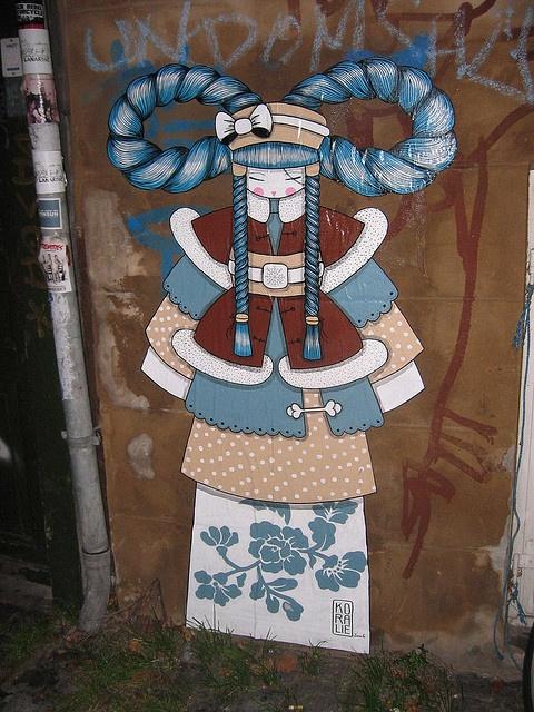 Koralie street art in Copenhagen - photo by Photo's from around...
