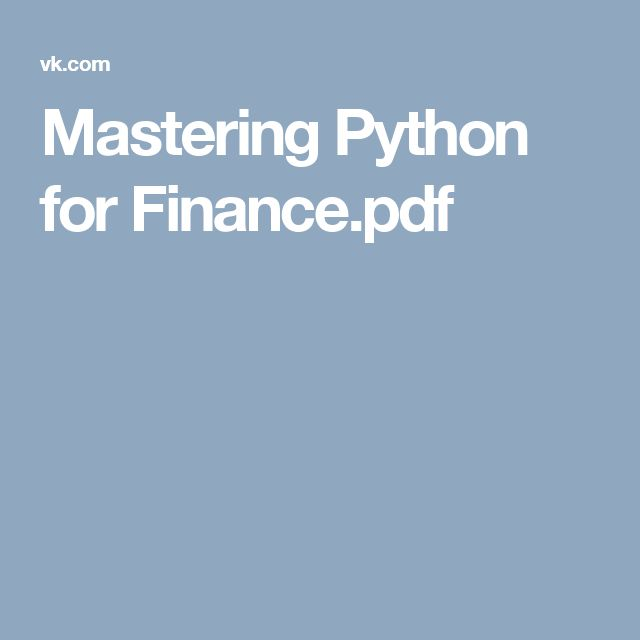 Python for finance Pdf rar