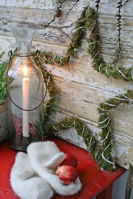 Have star and plan to decorate it with moss and glittering lights | VIBEKE DESIGN