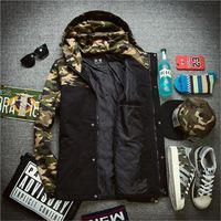Men winter coat Fashion camouflage parkas men warm thickening cotton-padded winter jacket men hooded coats
