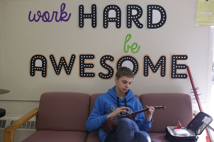Words to live by! Working hard to be awesome on the ukulele!