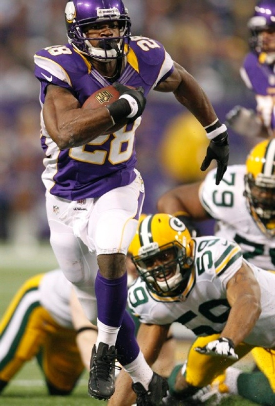 Minnesota Vikings Adrian Peterson voted Sporting News' COMEBACK PLAYER of the Year