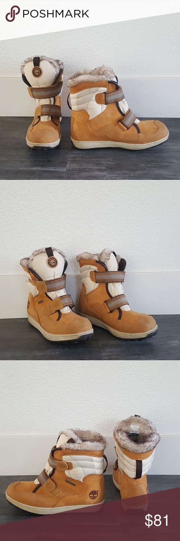 Camel Fur Detailed Timberland Snow Boots Never Worn Timberland Shoes Winter & Rain Boots
