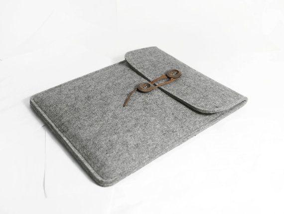 Wool Felt For iPad Case, iPad Sleeve, iPad Bag Handmade for iPad1 2 3 4 New iPad-B2041 on Etsy, $19.00
