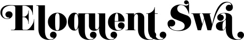 Eloquent Swash--good font for somethin'