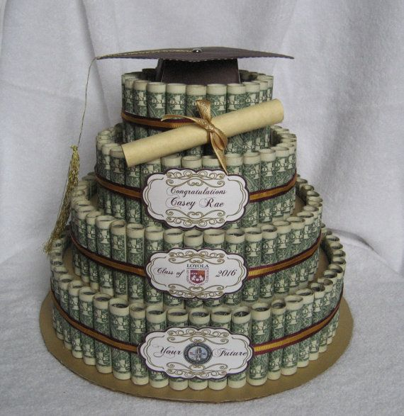 MONEY CAKE Four Tier Graduation Class of by CreativeCreationsMC