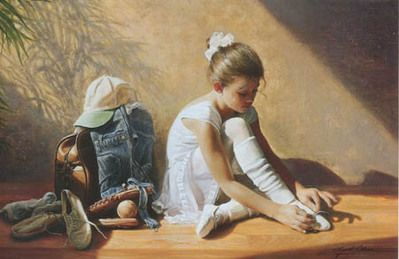 """""""Denim to Lace"""" by Greg Olsen"""