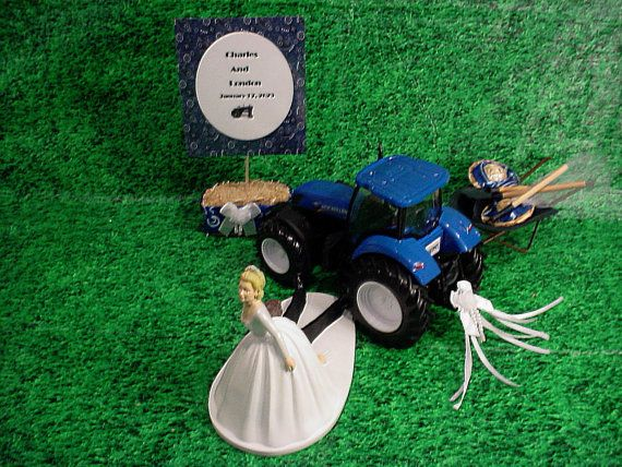 blue tractor wedding cake topper ford new blue tractor farm country farmer 12009