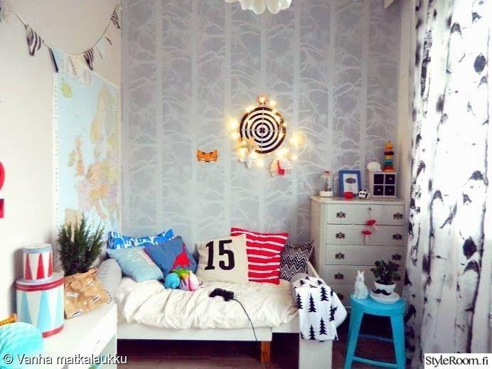 """Jäsenen """"Vanha_matkalaukku"""" lastenhuoneessa on iloisia värejä #styleroom #inspiroivakoti #lastenhuone #värikäs"""