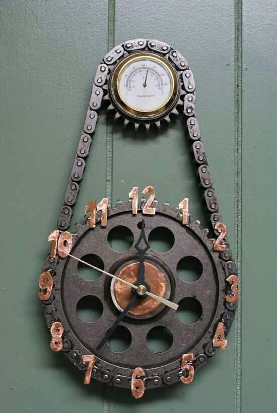 Sweet TIMING chain clock!                                                                                                                                                                                 More