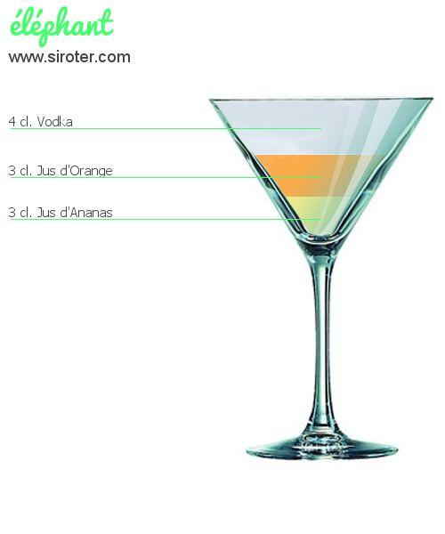 Recette Cocktail ÉLÉPHANT