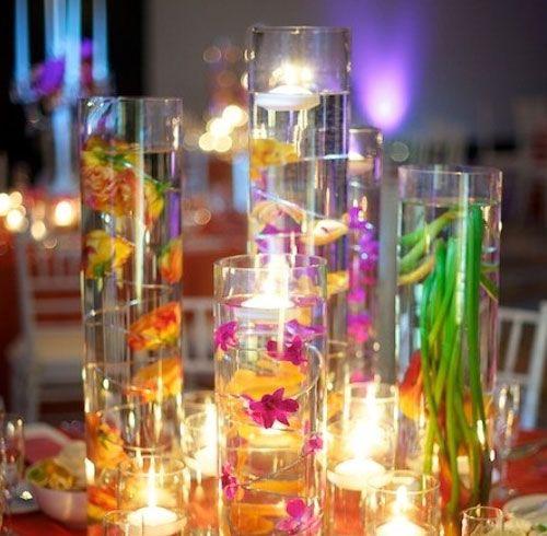 18 DIY Wedding Decorations on a Budget: Table Decorations, Colorful Centerpieces, Diy Wedding Decorations, Wedding Ideas, Wedding Stuff, Dream Wedding, Decoration Ideas