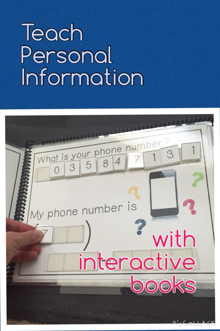 Make sure your students know all of their basic personal information. Autism, Special Education.