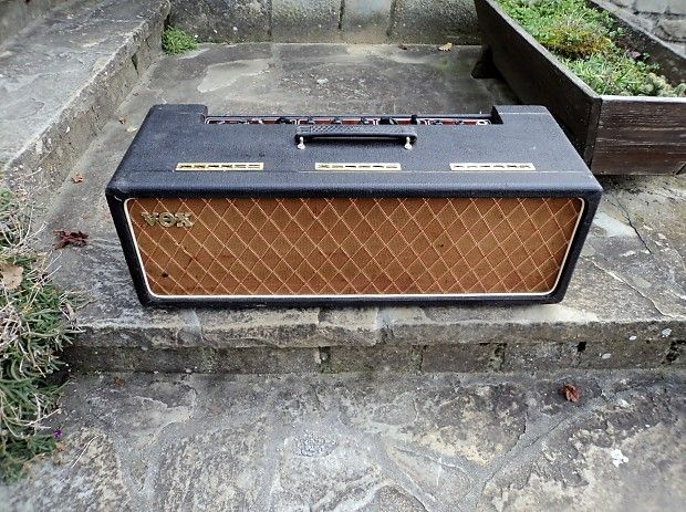 """Up to your attention a 100% ORIGINAL ULTRA RARE """"Normal"""" VOX AC30 SUPER TWIN COPPER PANEL HEAD fromAPRIL 1964.This superb jewel, the RARE FIRST BASKETWEAVE version is in EXCELLENT COSMETIC AND WORKING CONDITIONS (Look at the 40+ pics!!!!)The amp is UNMOLESTEDALL THE WIMA and MULLARD MUSTARD CAPS ( all dated B/64 and A/64) are thereThe Chassis is by Burndepts, Ltd with SER. N° 06323ORIGINAL POTS ORIGINAL ALBION TrasfromersORIGINAL """"BLACK BASKETWEAVE"""" Vynil CoveringORIGI..."""